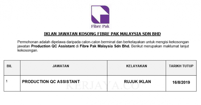 Fibre Pak Malaysia Sdn Bhd