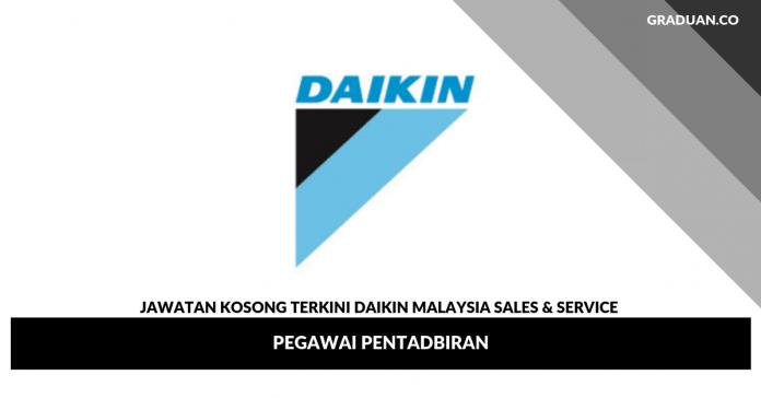 Jawatan Kosong Terkini Daikin Malaysia Sales & Service