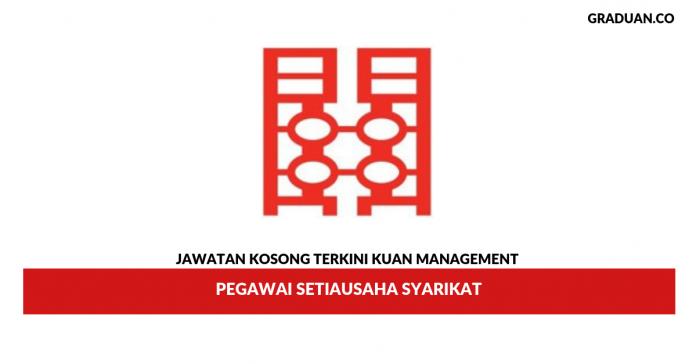 Permohonan Jawatan Kosong Kuan Management