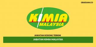 Permohonan Jawatan Kosong Terkini Jabatan Kimia Malaysia