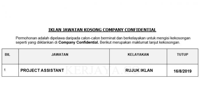 Company Confidential _ Project Assistant