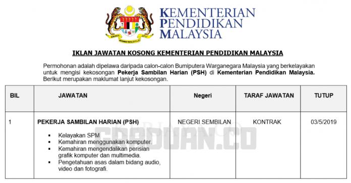 _Jawatan Kosong Kementerian Pendidikan Malaysia