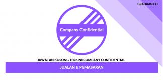 Permohonan Jawatan Kosong Company Confidential _ Jualan & Pemasaran