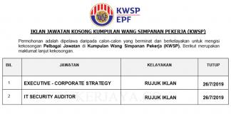 Jawatan Kosong Terkini Kumpulan Wang Simpanan Pekerja (KWSP)