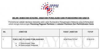 Permohonan Jawatan Kosong Terkini Jabatan Penilaian Dan Perkhidmatan Harta