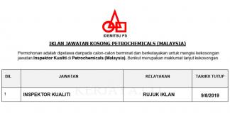 _Permohonan Jawatan Kosong Terkini Petrochemicals (Malaysia) Sdn Bhd