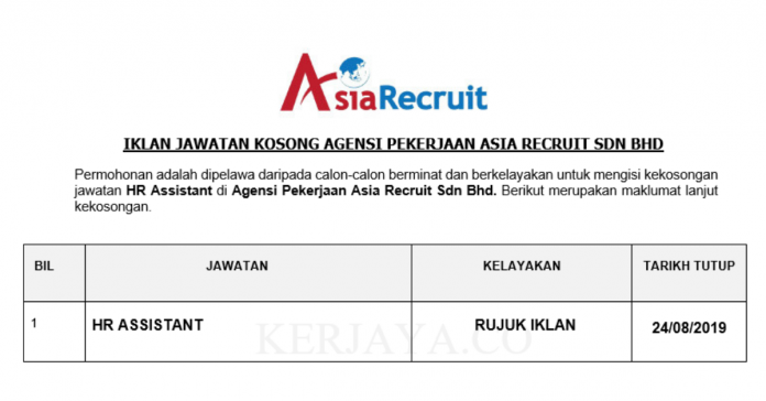 Agensi Pekerjaan Asia Recruit Sdn Bhd