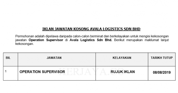 Avala Logistics Sdn Bhd