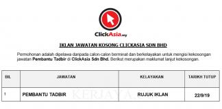 ClickAsia Sdn Bhd _ Pembantu Tadbir