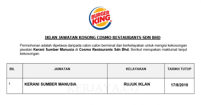 Cosmo Restaurants Sdn Bhd