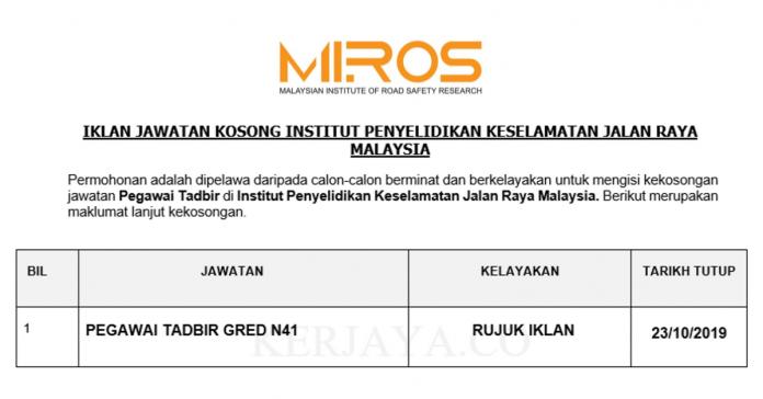 Institut Penyelidikan Keselamatan Jalan Raya Malaysia