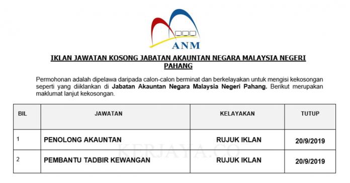 Jabatan Akauntan Negara Malaysia Negeri Pahang