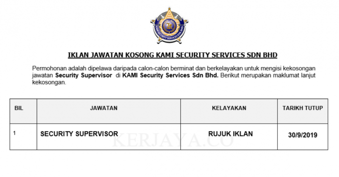 KAMI Security Services Sdn Bhd