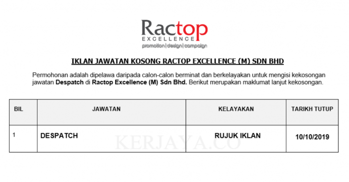 Ractop Excellence (M) Sdn Bhd