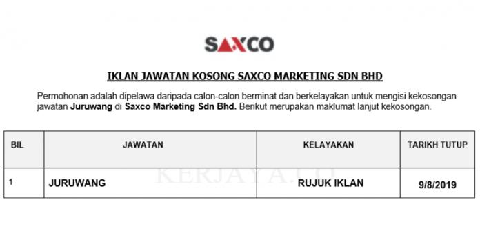 Saxco Marketing Sdn Bhd _ Juruwang
