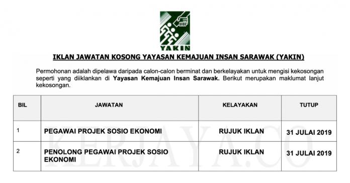 Yayasan Kemajuan Insan Sarawak (YAKIN)