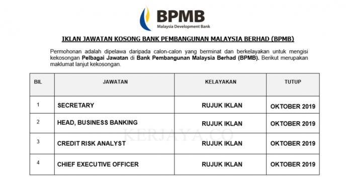 Bank Pembangunan Malaysia Berhad (BPMB)