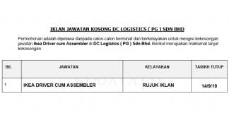 DC Logistics ( PG ) Sdn Bhd _ Ikea Driver cum Assembler