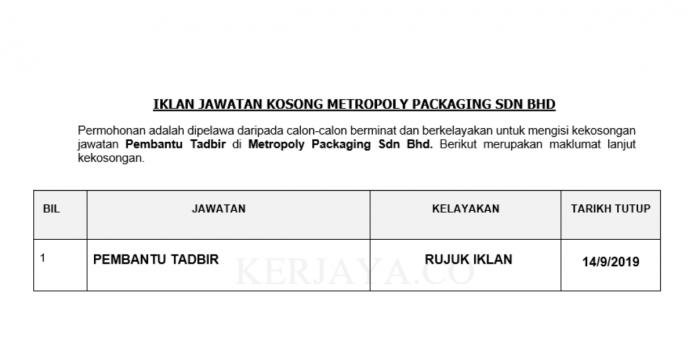 Metropoly Packaging Sdn Bhd