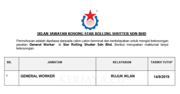 Star Rolling Shutter Sdn Bhd