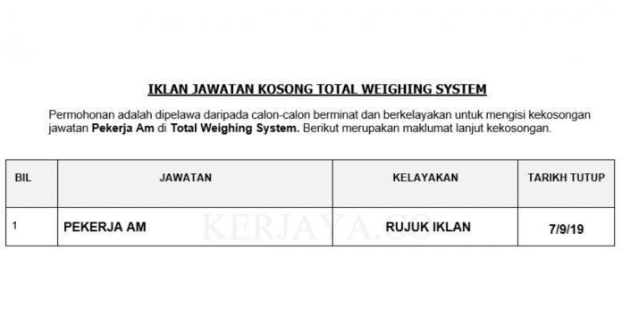 Total Weighing System _ Pekerja Am
