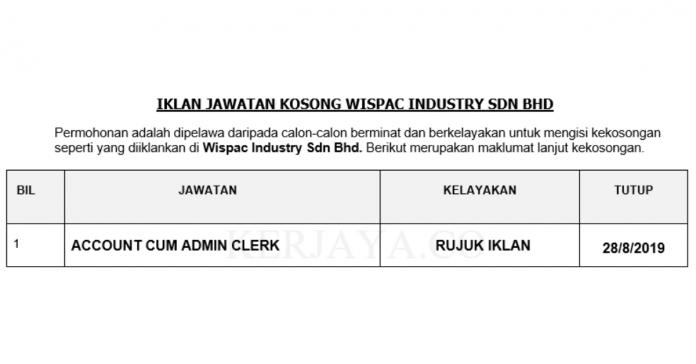 Wispac Industry Sdn Bhd _ Kerani