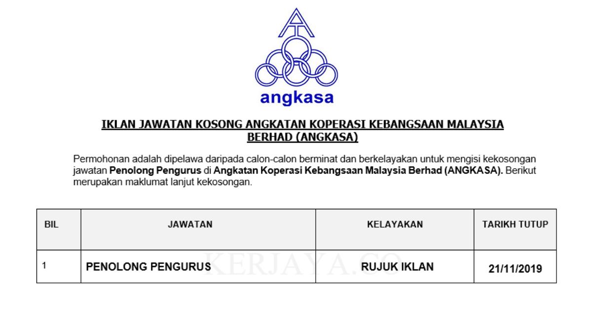 Permohonan Jawatan Kosong Angkatan Koperasi Kebangsaan Malaysia Berhad Portal Kerja Kosong Graduan