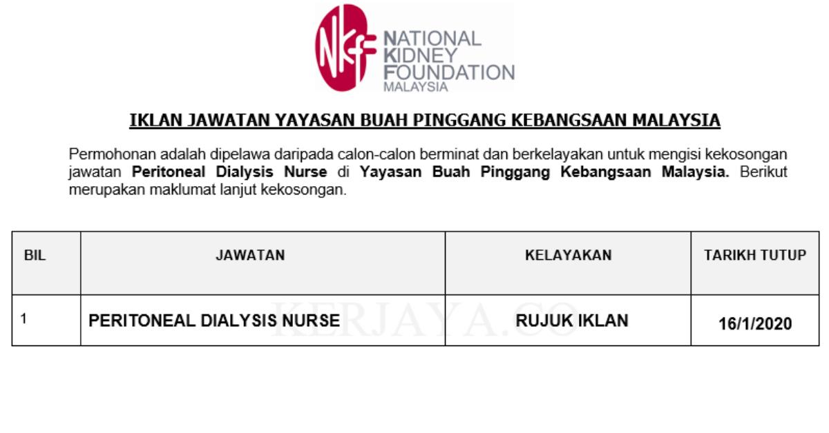 Permohonan Jawatan Kosong Yayasan Buah Pinggang Kebangsaan Malaysia Portal Kerja Kosong Graduan