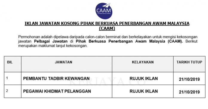Pihak Berkuasa Penerbangan Awam Malaysia (CAAM)