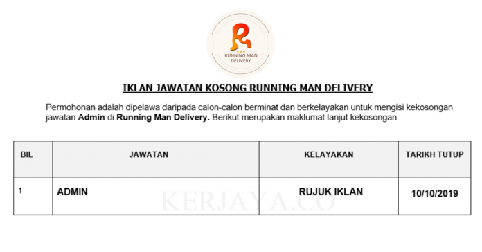 Running Man Delivery