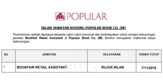 Popular Book Co. (M) _ Bookfair Retail Assistant