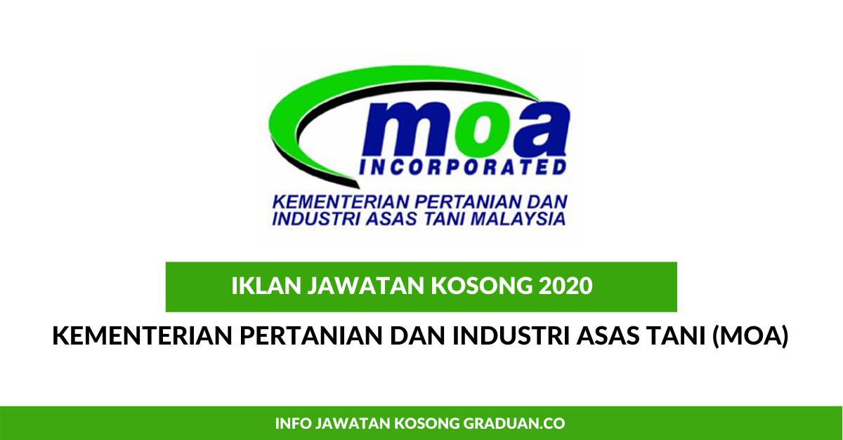 Permohonan Jawatan Kosong Kementerian Pertanian Dan Industri Asas Tani Moa Portal Kerja Kosong Graduan