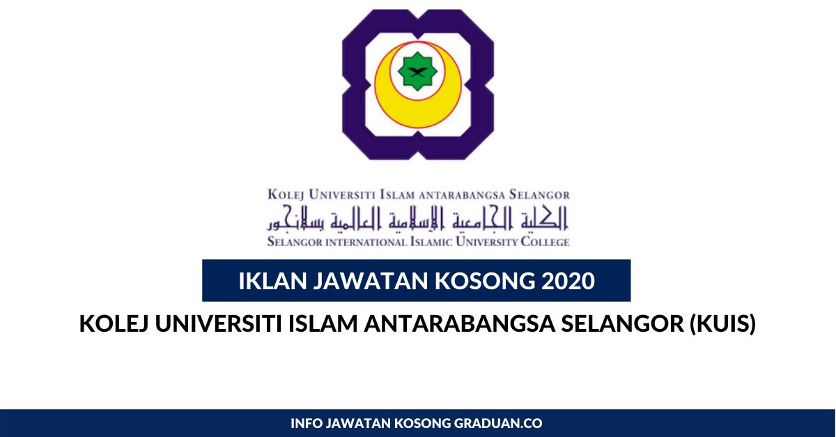 Permohonan Jawatan Kosong Kolej Universiti Islam Antarabangsa Selangor Kuis Portal Kerja Kosong Graduan