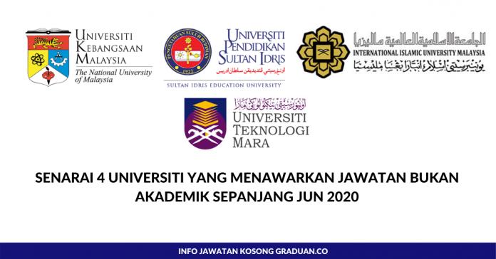 Permohonan Jawatan Kosong Senarai 4 Universiti Yang Menawarkan Jawatan Bukan Akademik Sepanjang Jun 2020 Portal Kerja Kosong Graduan
