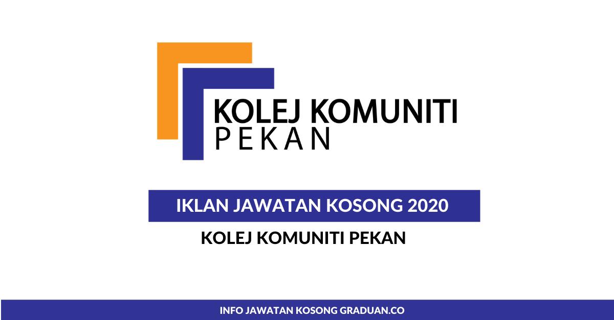 Permohonan Jawatan Kosong Kolej Komuniti Pekan Portal Kerja Kosong Graduan