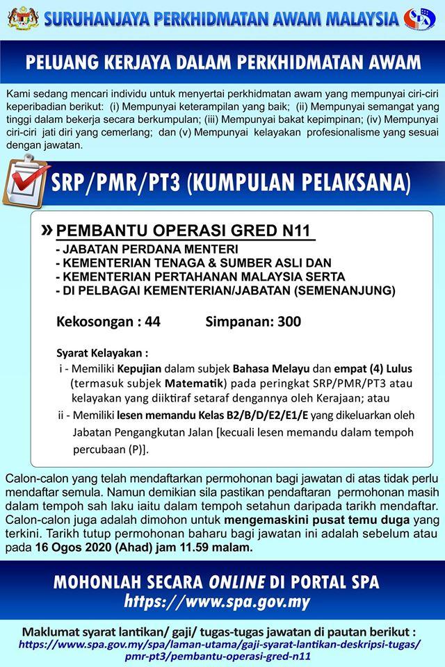 Jawatan Kosong Suruhanjaya Perkhidmatan Awam Malaysia Spa Malaysia Portal Kerja Kosong Graduan