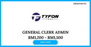 Jawatan Kosong Terkini Tyfon Tech Sdn Bhd