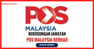 Jawatan KosongTerkini Pos Malaysia Berhad