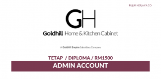 Goldhill Home & Kitchen Cabinet ~ Admin Account