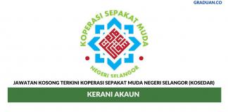 Permohonan Jawatan Kosong Terkini Koperasi Sepakat Muda Negeri Selangor (KOSEDAR)
