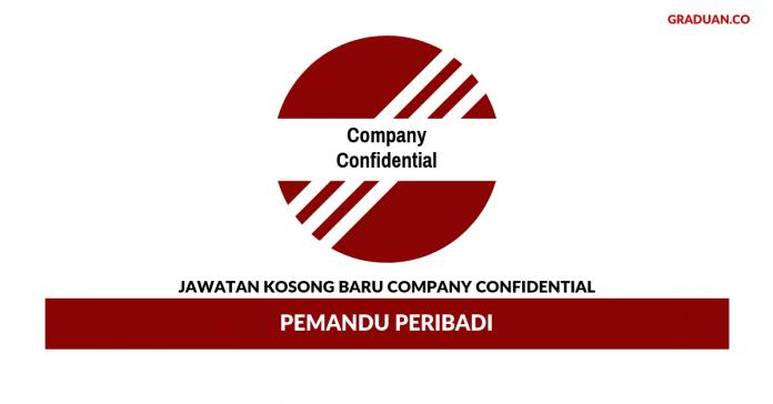 Permohonan Jawatan Kosong Terkini Company Confidential