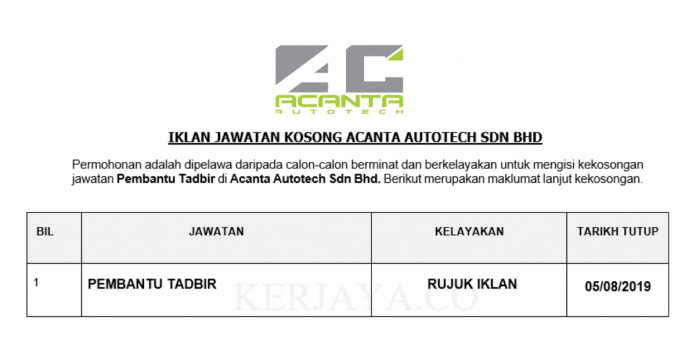 Acanta Autotech Sdn Bhd
