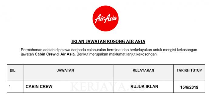 Permohonan Jawatan Kosong Terkini AirAsia Berhad