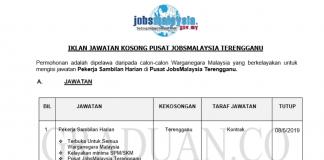 Permohonan Jawatan Kosong Terkini Pusat JobsMalaysia Terengganu