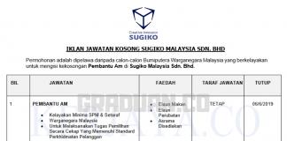Permohonan Jawatan Kosong Terkini Sugiko Malaysia _ Pekerja Am