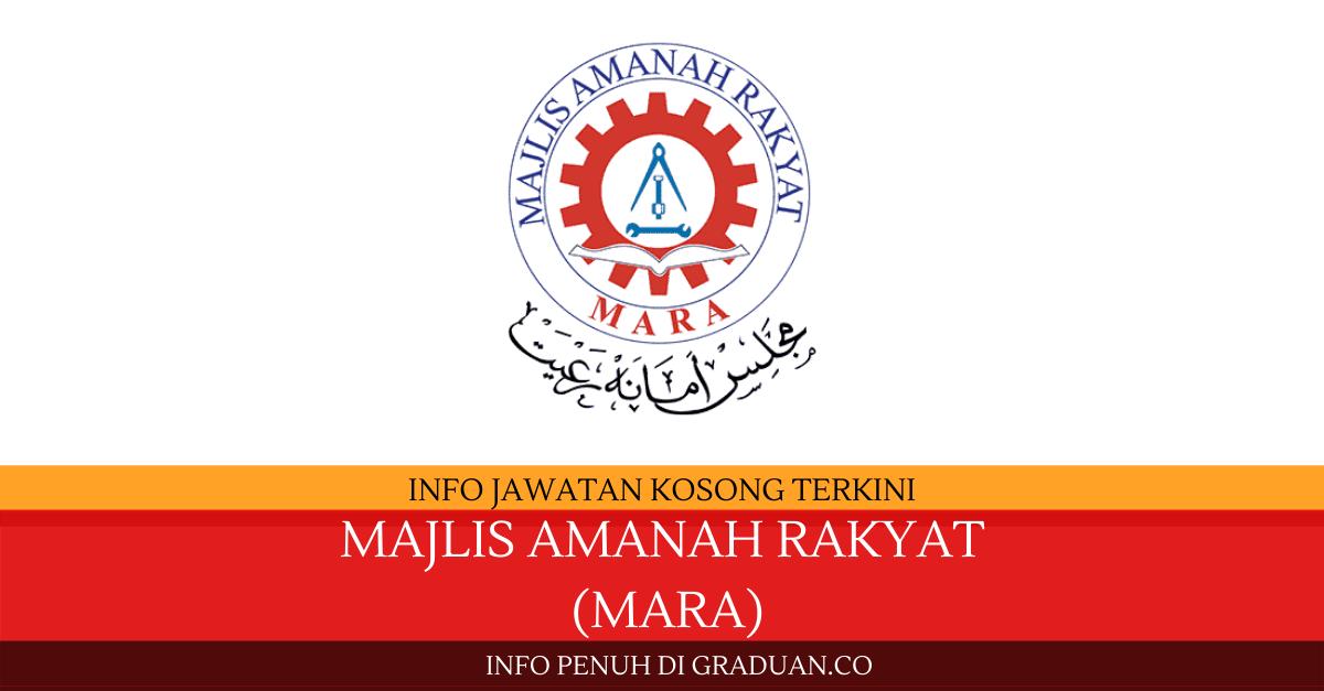 Permohonan Jawatan Kosong Majlis Amanah Rakyat (MARA ...