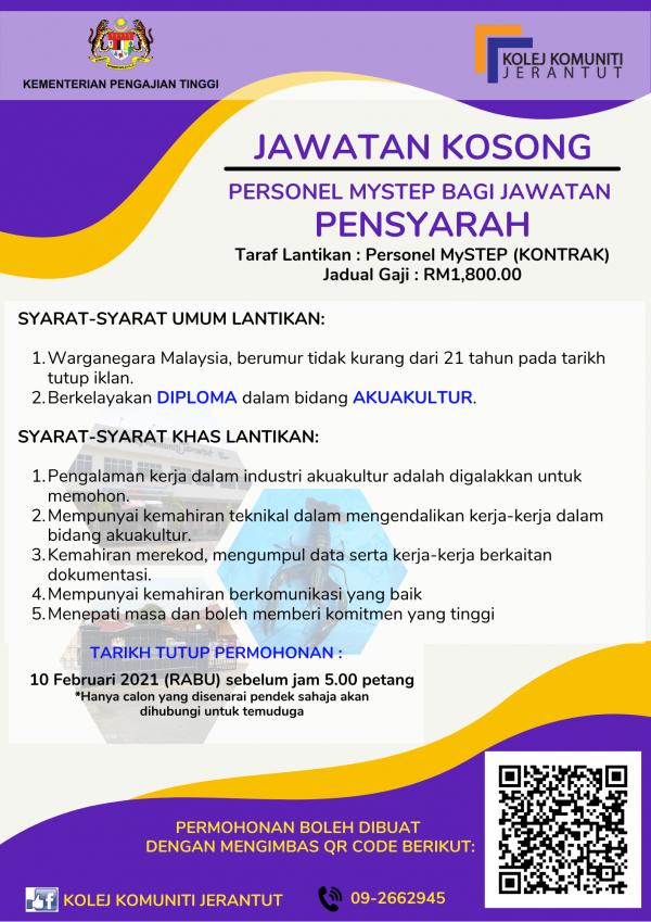 Iklan Jawatan Kolej Komuniti Jerantut • Portal Kerja ...
